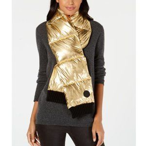 DKNY  Metallic Quilted Puffer Scarf. NWT!